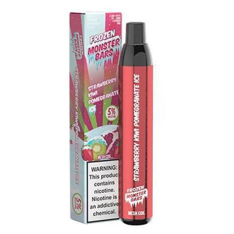 Monster Bars Frozen Strawberry Kiwi Pomegranate Ice Disposable Vape Pen
